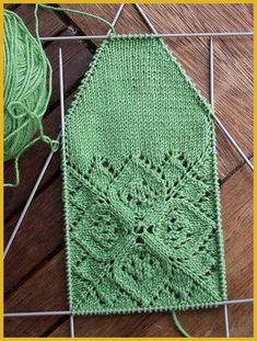 Ravelry: Grün ist die Hoffnung pattern by Stephanie van der Linden - free pattern for socks or perhaps something else?Interesting set-up for socks. You do the top of the foot first, then a short row toe, and finally you work the bottom of the sock i Mode Crochet, Knit Or Crochet, Lace Knitting, Knitting Stitches, Knitting Socks, Knit Socks, Lace Socks, Knit Lace, Yarn Projects