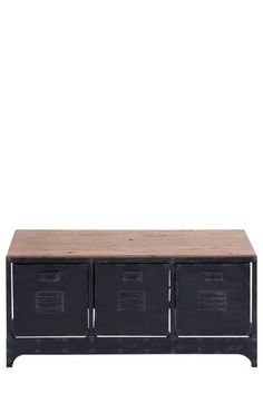 Industrial locker-style console table