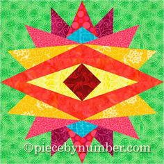 (7) Name: 'Quilting : Indian Summer Paper Pieced Block