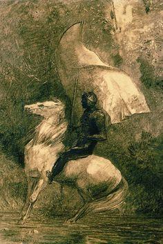 Odilon Redon (1840-1916) - A Knight (Cavalier), 1885