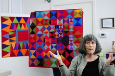 Gwen Marston :: Abstract Quilts in Solids — Kristin Shields Beginner Quilt Patterns, Quilting Tutorials, Quilting Designs, Small Quilts, Easy Quilts, Fiber Art Quilts, Miniature Quilts, Contemporary Quilts, Applique Quilts