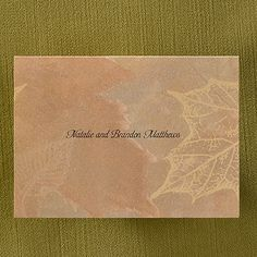 Leaves - Note Card and Envelope