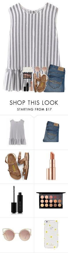 """Have to go back to school tomorrow :(("" by classyandsassyabby ❤ liked on Polyvore featuring Abercrombie & Fitch, Birkenstock, Estée Lauder, Marc Jacobs, MAC Cosmetics, MANGO and Kate Spade"