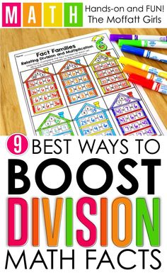 9 Ways to Master Division! Mastering division facts is such an important skill in elementary. If students can master the basics, all other math concepts are so much easier to learn. Check out these engaging, effective and fun ways to build strong foundational skills for future learning.