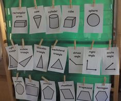 """Geometrical Shape Signs- A great visual for all students. Teaching Tip: A rhombus is a square """"leaning over on its side."""""""