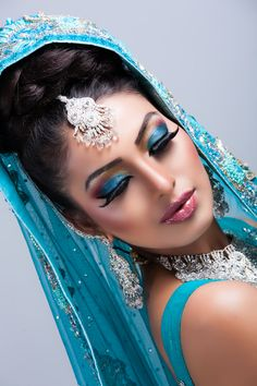 An eastern bridal look done by our very own in-house make up artist Rajvir. She also specialises in threading, laser treatments and authentic massage.