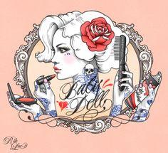 Baby Doll illustration - rockabilly art