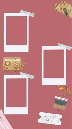 Creative Instagram Stories, Instagram Blog, Instagram Story Ideas, Instagram And Snapchat, Polaroid Picture Frame, Instagram Frame Template, Polaroid Template, Photo Collage Template, Instagram Background
