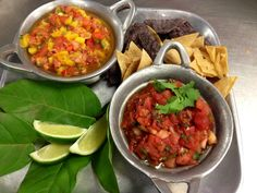 Salsa Stations | Homemade with housemade tortilla chips www.twounique.com