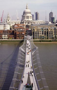 Millennium Bridge, London, designed by Sir Norman Foster