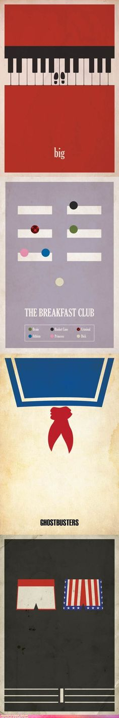 Funny celebrity pictures - Minimalist Movie Posters Featuring Classic Films