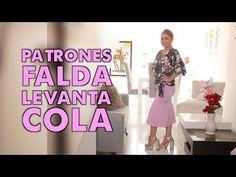 Omaira tv- DIY PATRÓN FALDA LEVANTA COLA- skirt pattern lifts tail