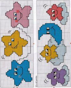 Baby Cross Stitch Patterns, Cross Stitch Baby, Simple Cross Stitch, Cross Stitch Designs, Hand Work Embroidery, Baby Embroidery, Hand Embroidery Patterns, Embroidery Stitches, Cross Stitch Bookmarks
