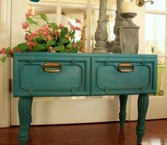 18 Incredible Ways To Repurpose Old Drawers • One Brick At A Time Decor, Furniture, French Country Decorating, Drawers, Large Drawers, Painted Furniture, Repurposed Furniture, Furniture Rehab, Old Drawers