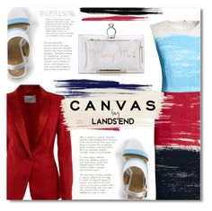 """""""Paint Your Look With Canvas by Lands' End: Contest Entry"""" by defivirda ❤ liked on Polyvore featuring Canvas by Lands' End, Lands' End, Dondup and Charlotte Olympia"""