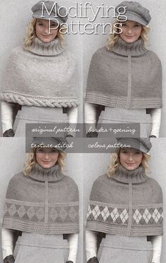 Needlecrafts - Modifying Patterns                 Main Image |    Patons Free Pattern here         Cable Capelet Free Pattern    First o...