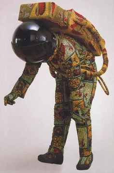 Yinka Shonibare, Space Walk Cross Topic Art, Sci-Fi and Space Exploration Art In The Age, African Textiles, Art Textile, A Level Art, Black Artists, Land Art, Art Plastique, Contemporary Art, Modern Art