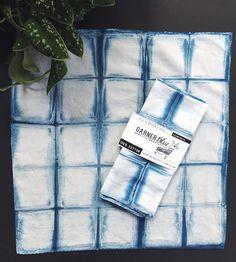 Cube Melt Shibori Indigo Dyed Napkins, Set of 4 by Garner Blue on Scoutmob Shoppe