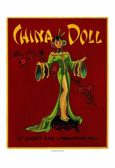 China Doll Chinese Restaurant Jazz Club New York, 146 menu