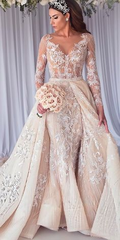 30 Revealing Wedding Dresses From Top Australian Designers ❤ revealing wedding. 30 Revealing Wedding Dresses From Top Australian Designers ❤ revealing wedding dresses lace v neckline long sleeve steven khalil ❤ Full gallery: weddingdressesgui. Princess Wedding Dresses, Elegant Wedding Dress, Designer Wedding Dresses, Modest Wedding, Cinderella Wedding, Mermaid Wedding, Bridal Lace, Bridal Gowns, Lace Wedding