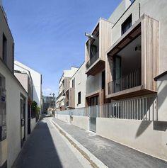 #Tetris, social housing and artist studios #Moussafir Architectes #Paris #France #Jacques Moussafir #Alexis Duquennoy