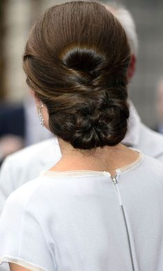 Kate Middleton#039;s Updo Hairstyle At The UK#039;s Creative Industries Reception, 2012