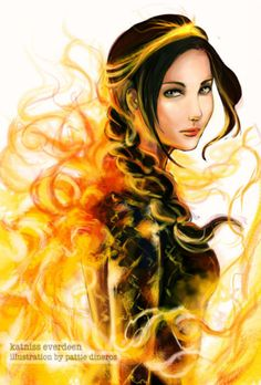 the girl who was on fire.