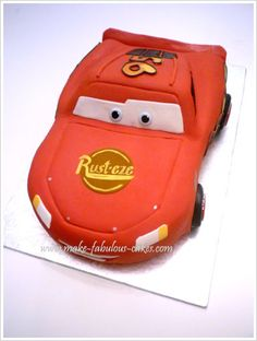 Lightning McQueen cake tutorial - I see that I will need to know how to make this in my future