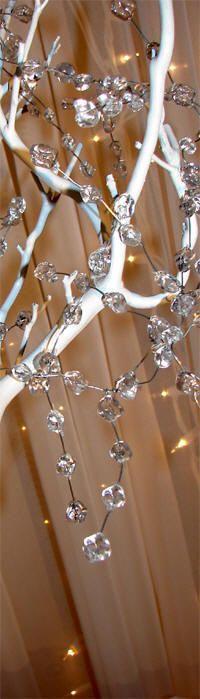 crystal beaded garland on tree