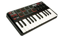 Simple and compact MIDI keyboard and drum controller