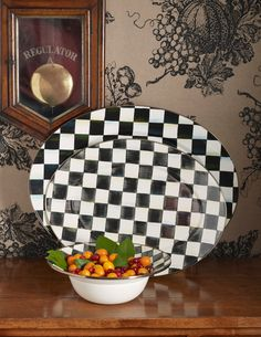 "Very pleasing MacKenzie-Childs ""Courtly Check"" Platters"
