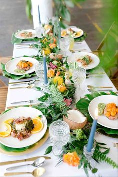 Beach wedding centerpiece with coconuts - tropical wedding centerpiece idea -Check out more beach centerpiece inspiration on WeddingWire! {Vivid Vibes Event Planning}