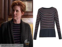 Nashville: Season 3 Episode 11 Tandy's Pink Striped Sweater