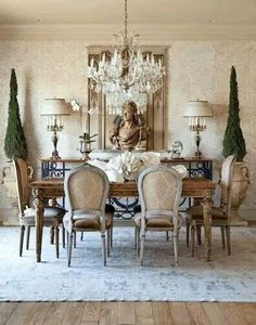 Beautiful french country dining room ideas (42)