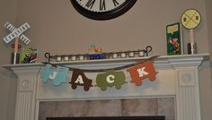 Train birthday party banner, boy's birthday party idea