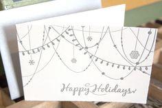 Christmastcard illustrated by @ontwerpbureaulk; seen on HappyMakersBlog.com December, Cricut, Container, Easter, Illustration, Om, Christmas, Fonts, Cards