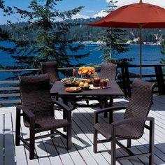 Lakeside Woven Patio Chairs Brown | Tropitone