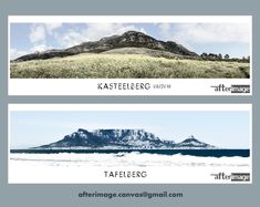 """Ready-to-hang Canvas Prints. Artist's rendition of """"Tafelberg"""", Cape Town and """"Kasteelberg"""", Riebeek West. Images are printed on high quality Picasso Satin canvas material. FREE shipping in South Africa. #art #wallart #canvas #canvasart #walldecor #homedecoration #mountainart #proudlysouthafrican #Kasteelberg #Tafelberg #Tablemountain #ilovesouthafrica #ilovecapetown #southafrica #riebeekwest #swartland #capetownart"""