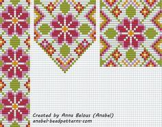 """Схема гердана """"Цветочный""""- станочное ткачество (2 варианта)"""