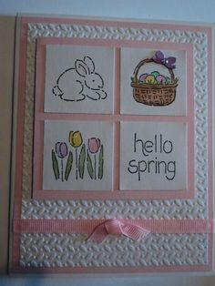Hello Spring Card by candee porter - Cards and Paper Crafts at Splitcoaststampers