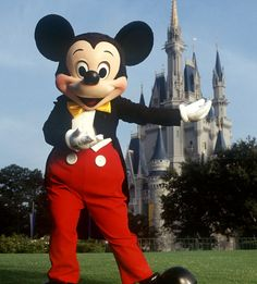 Beloved: The iconic Disney cartoon character Mickey Mouse outside the Magic Kingdom