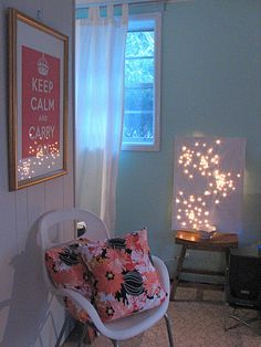 DIY Canvas...but I would love to do something like this in my room.