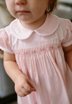 Smocked Charlotte Dress - Smocked Charlotte Dress– Little English - Smocked Baby Clothes, Girls Smocked Dresses, Little Girl Dresses, Smocked Dresses For Toddlers, Smocked Clothing, Crochet Playsuits, Baby Girl Dress Patterns, Children's Dress Patterns, Sewing Patterns