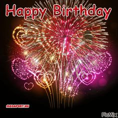 See the PicMix Happy Birthday belonging to bestgifmaker on PicMix. Happy Birthday Fireworks, Happy Birthday Gif Images, Animated Happy Birthday Wishes, Happy Birthday Greetings Friends, Happy Birthday Black, Happy Birthday Wishes Photos, Happy Birthday Video, Happy Birthday Celebration, Happy Birthday Candles