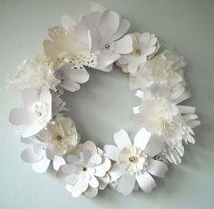 paper flower garland {beautiful} #white