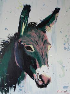 Esel / Donkey Acrylic Painting by Daniel Schausberger 60x80 cm
