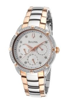Bulova Women's Diamond Stainless Steel Quartz Watch