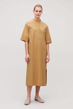 COS | Mid-length grandad shirt dress Grandad Shirts, Short Sleeve Dresses, Dresses With Sleeves, Short Sleeves, Roll Up Sleeves, Shirt Dress, T Shirt, Pug Love, Mid Length