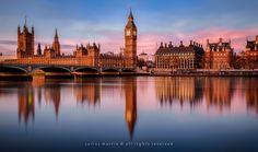 London: Sunrise on the River Thames Blue Hour, Houses Of Parliament, River Thames, Westminster, London England, Big Ben, Palace, Filter, Sunrise