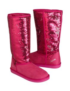 Cute sparkly fake uggs for the winter! I want these for my birthday:) Cute Winter Boots, Girls Winter Boots, Snow Boots Women, Cute Boots, Ugg Boots Sale, Ugg Boots Cheap, Justice Boots, Kids Clothes Sale, Justice Clothing